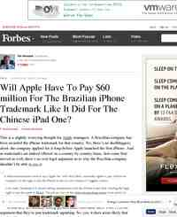 Will Apple Have To Pay 60 million For: Forbes.com